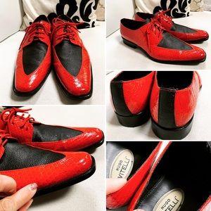 3b16f5c08bc5 Hugo Vitelli Mens Lace Up Square Toe Shoes Sz 12